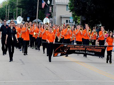 WSMS Marching Band at the June Dairy Days Parade